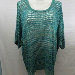 Catherines Sparkly Ltwt Sweater Top Women's 4X NWT